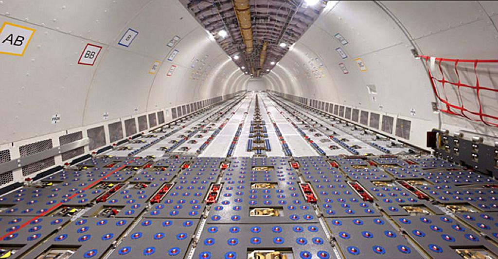 Interior of AIRBUS A330-200F