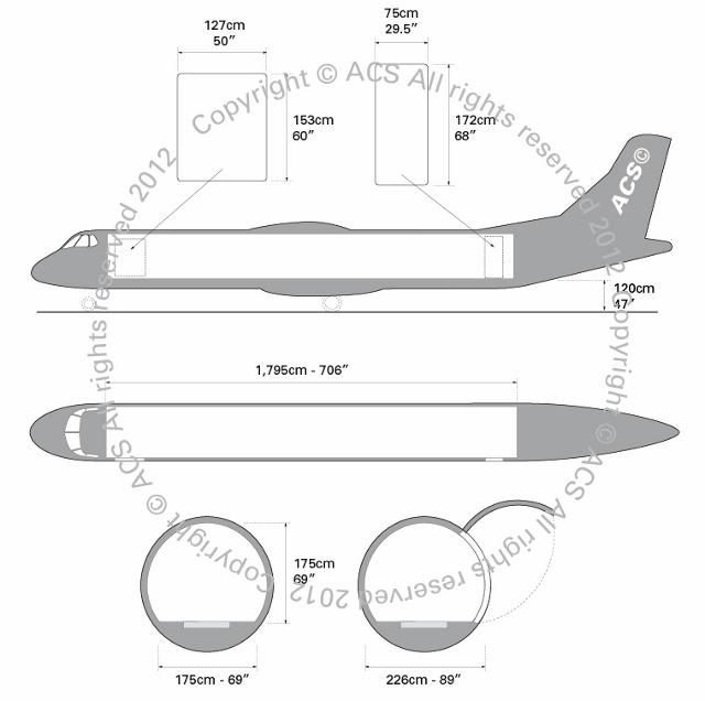 Layout Digram of ATR 72 CARGO