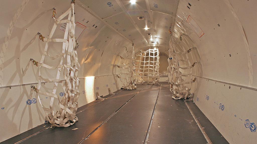 Interior of ATR 72 CARGO