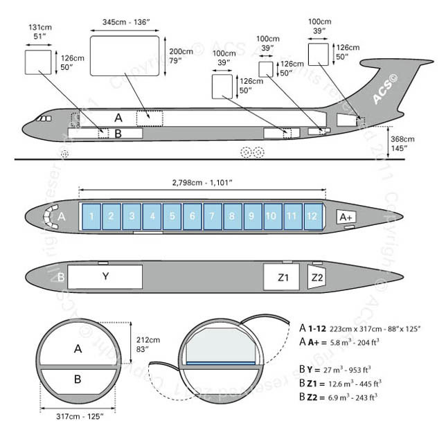 Layout Digram of ILYUSHIN IL-62