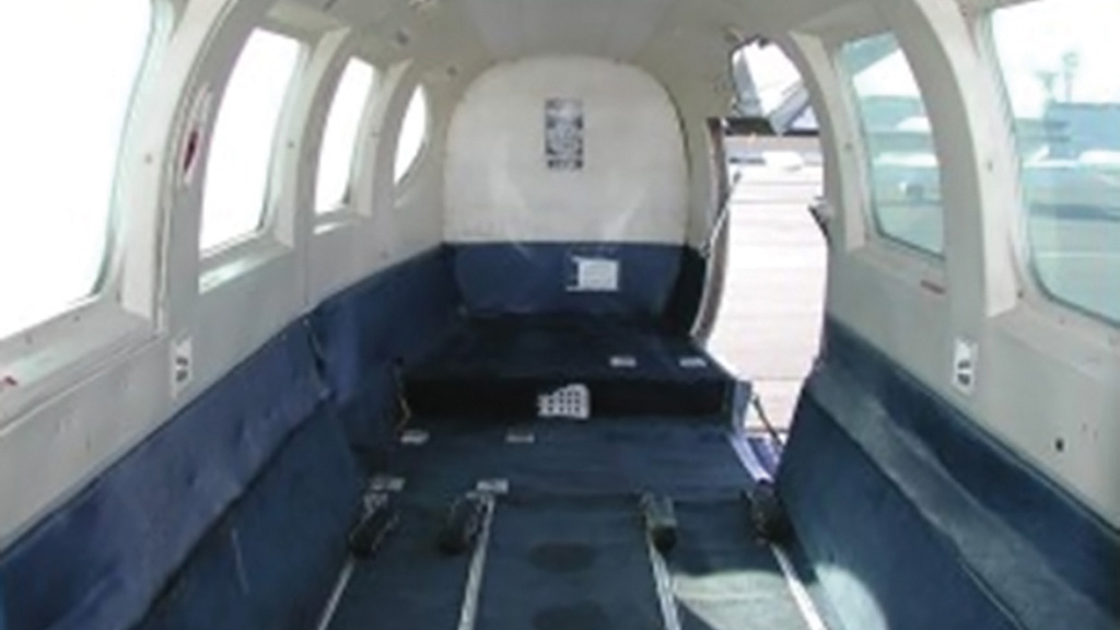 Interior of PIPER PA-31