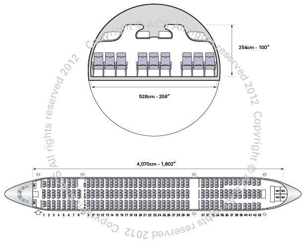 Layout Digram of AIRBUS A300-600R