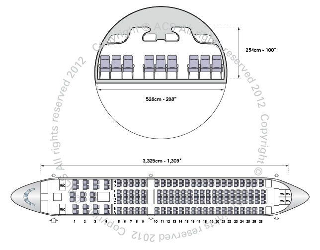 Layout Digram of AIRBUS A310-300