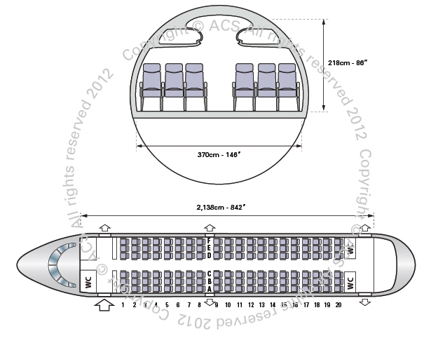 Layout Digram of AIRBUS A318
