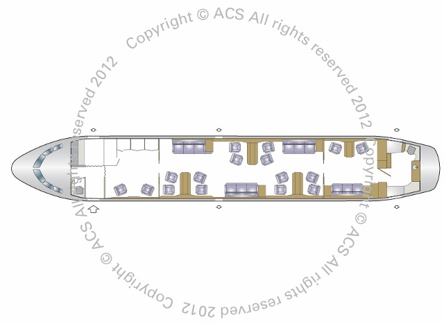 Layout Digram of AIRBUS A318 ELITE