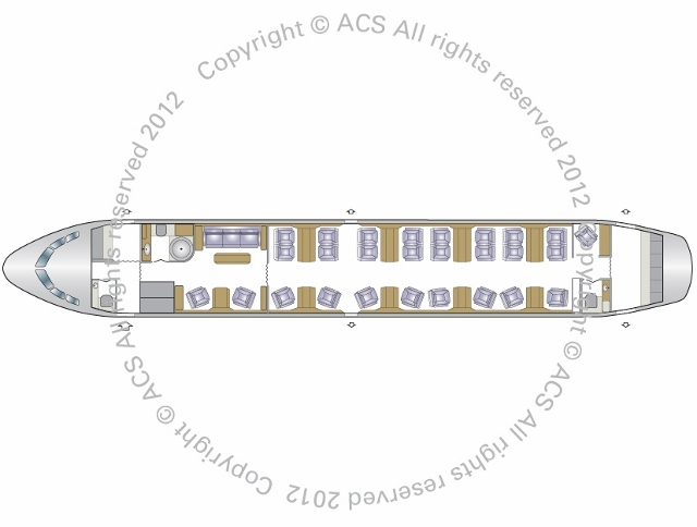 Layout Digram of AIRBUS A319 CJ