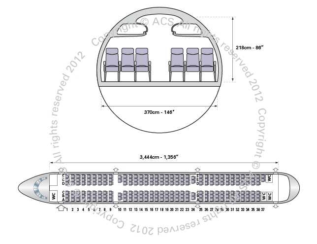 Layout Digram of AIRBUS A321
