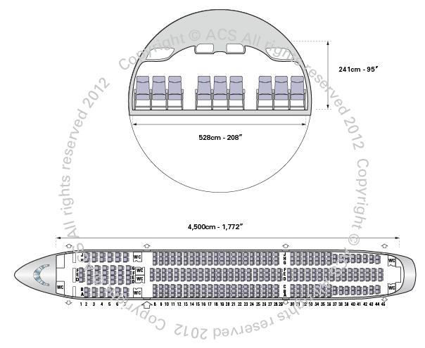 Layout Digram of AIRBUS A330-200