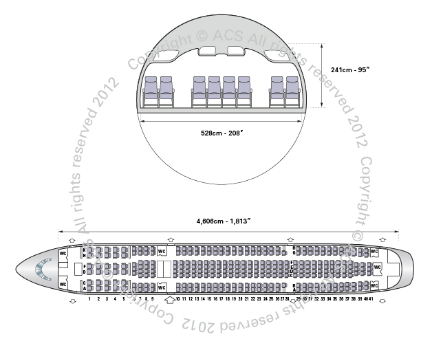 Layout Digram of AIRBUS A340-200 300