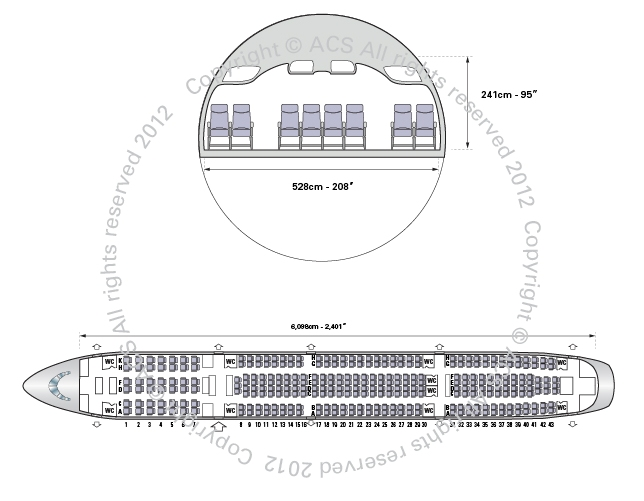 Layout Digram of AIRBUS A340-500