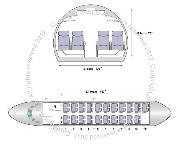 Layout Digram of ANTONOV AN24 26