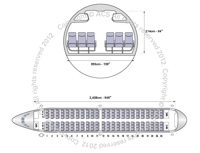 Layout Digram of BOEING 737-300 700