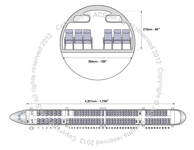 Layout Digram of BOEING 757-300