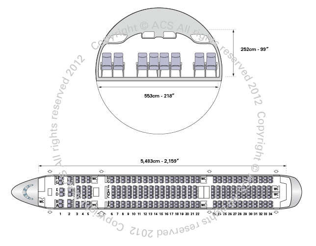 Layout Digram of BOEING 787-800