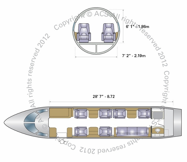 Layout Digram of BOMBARDIER CHALLENGER 300