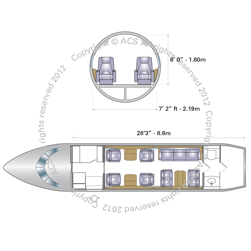 Layout Digram of BOMBARDIER CHALLENGER 600 601