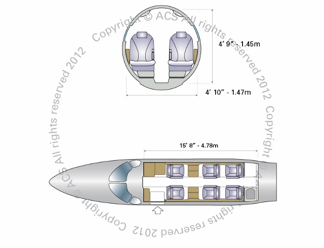 Layout Digram of CESSNA CITATION CJ4