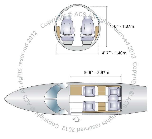 Layout Digram of CESSNA CITATION MUSTANG
