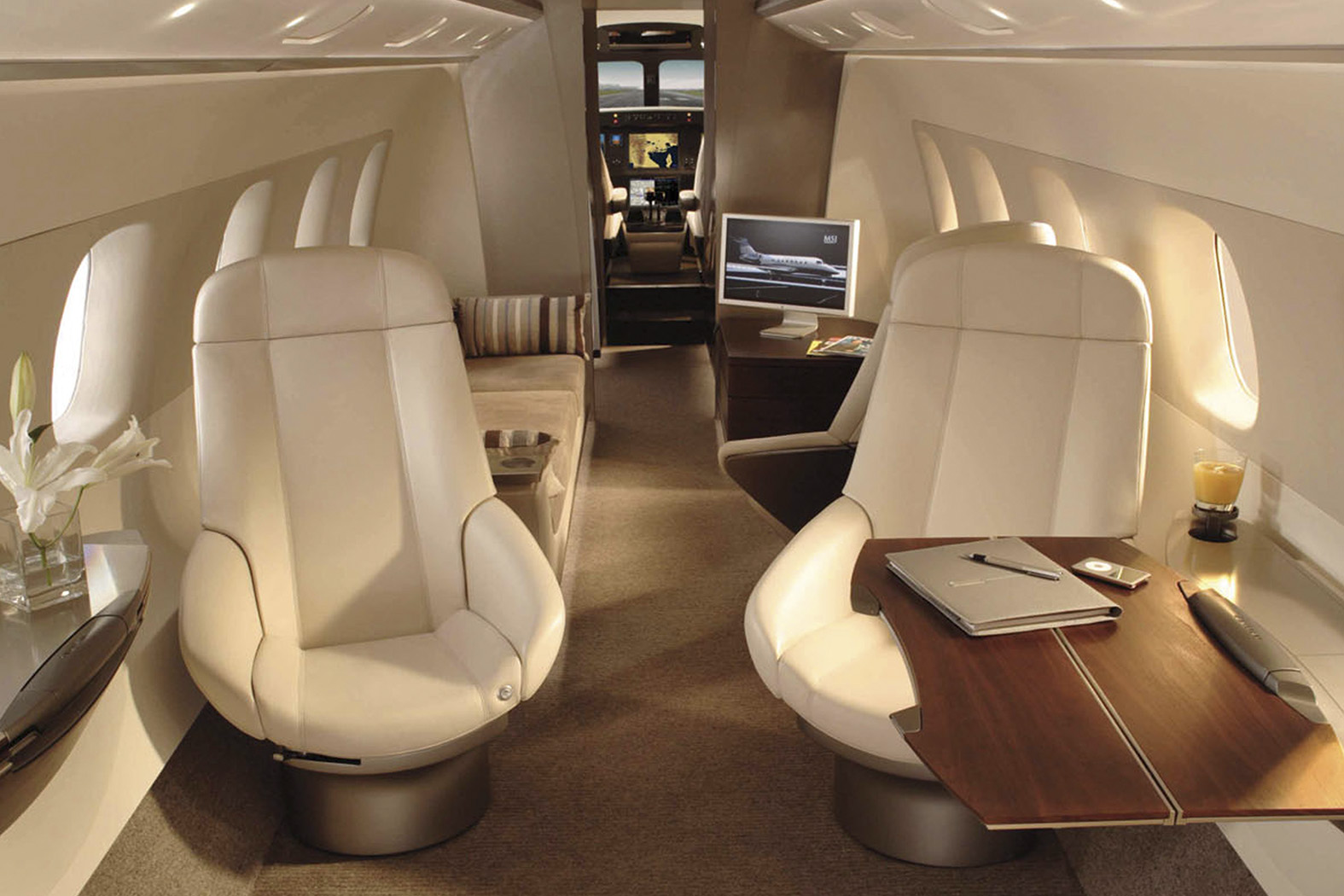 Interior of EMBRAER LEGACY 500