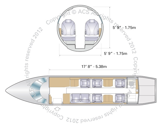 Layout Digram of GULFSTREAM G150