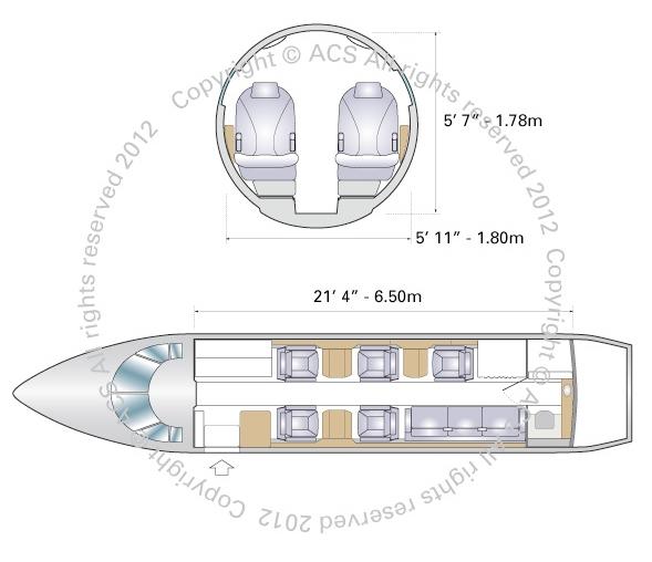 Layout Digram of HAWKER BEECHCRAFT 750