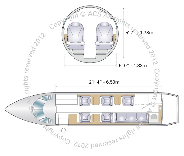Layout Digram of HAWKER BEECHCRAFT 800
