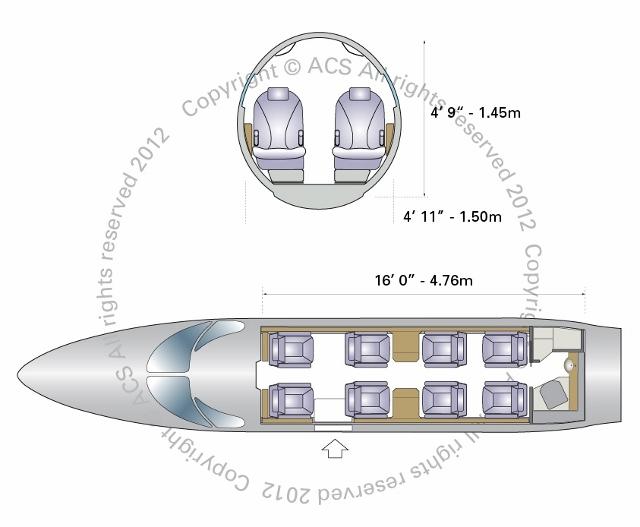 Layout Digram of HAWKER BEECHCRAFT 400XP XPR NEXTANT
