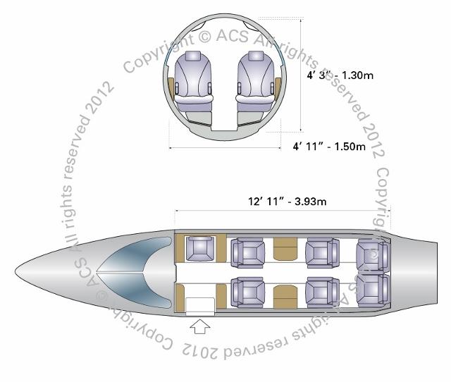 Layout Digram of BOMBARDIER LEARJET 31