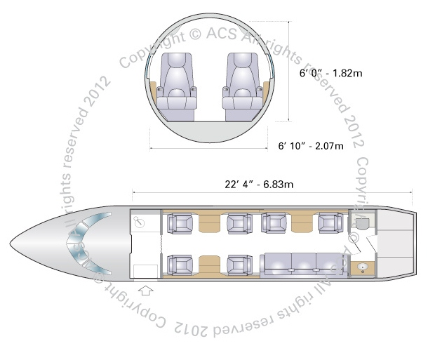 Layout Digram of EMBRAER LEGACY 500