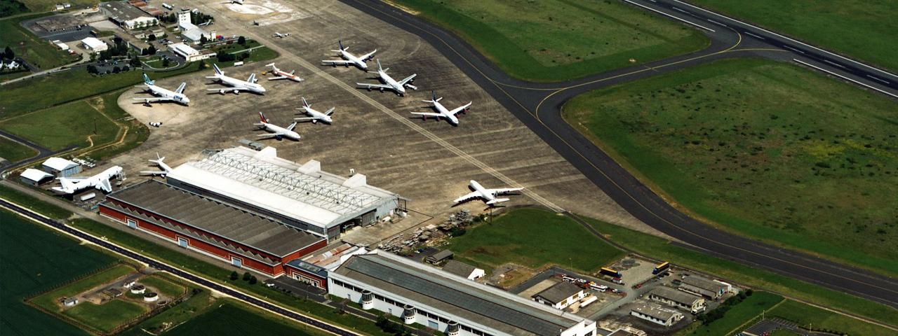 Avion cargo à l'aéroport de Chateauroux