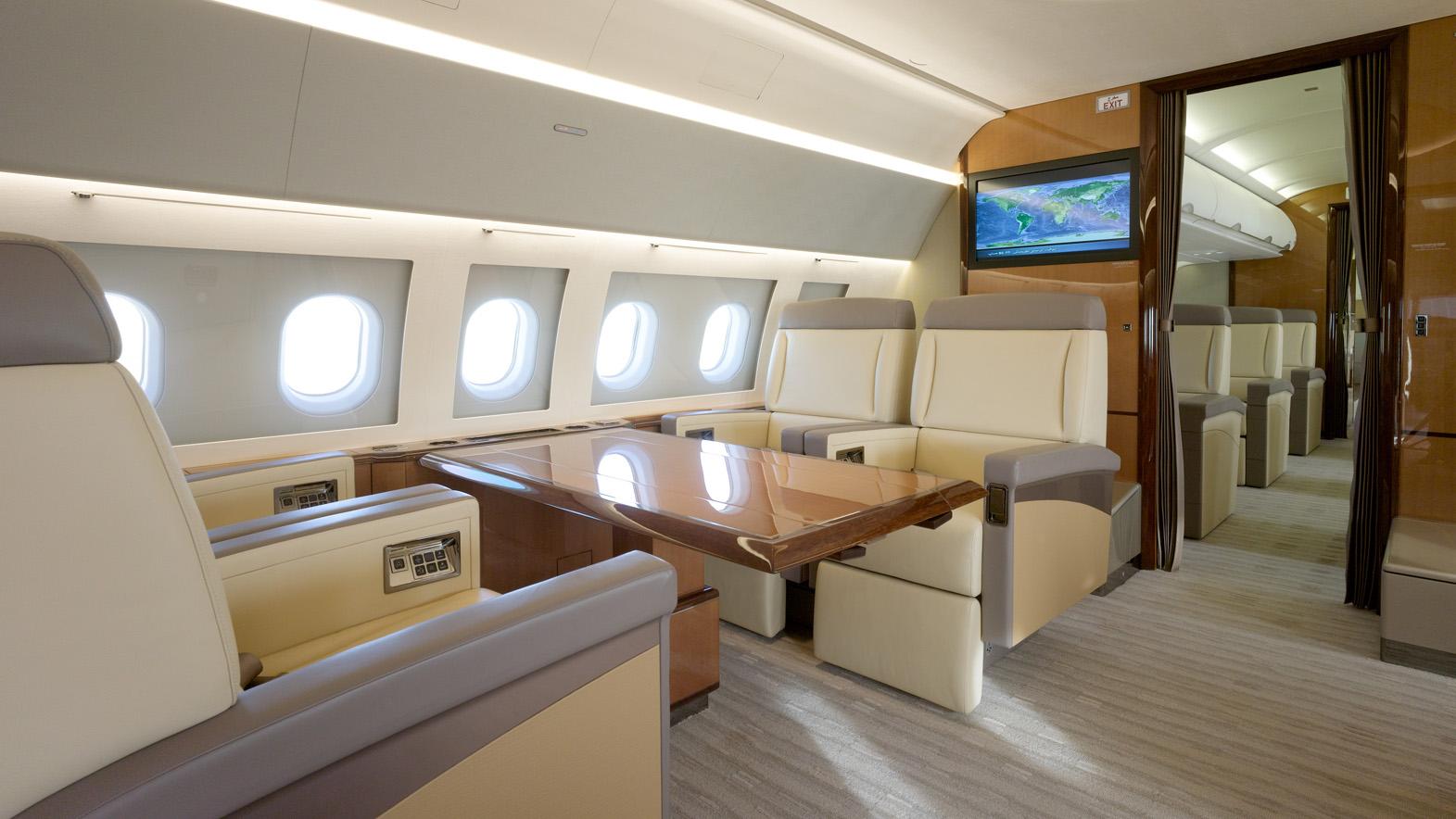 Interior of AIRBUS A319