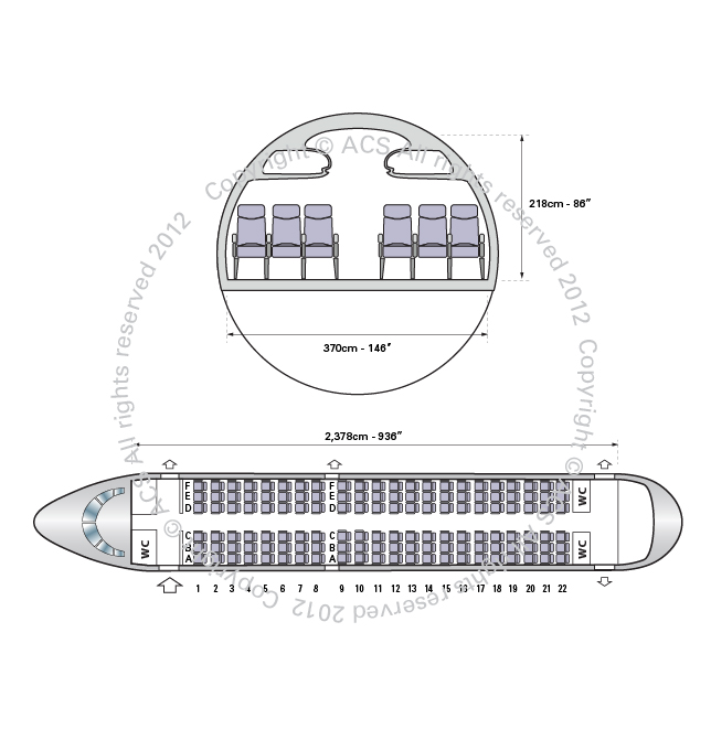 Layout Digram of AIRBUS A319