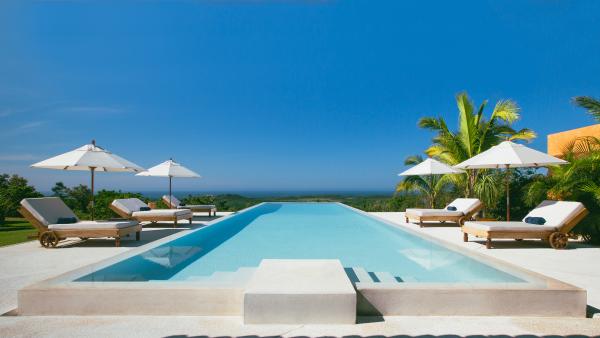Casa Torre pool at Cuixmala Mexico