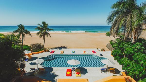 Casa Pool overlooking the beach at Cuixmala Mexico