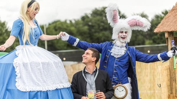 Alice and her white rabbit