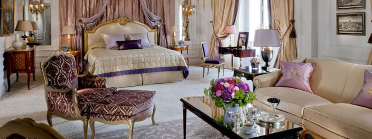 The Royal Suite of the Hotel Plaza Athenee, Paris, France