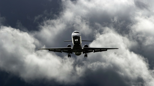 Private Jet in a Storm