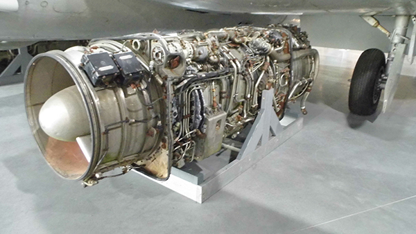 Armstrong Siddeley Sapphire axial turbojet engine provided 8,300 lbf (37,000 kN), and was used on the Gloster Javelin FAW Mk.1s