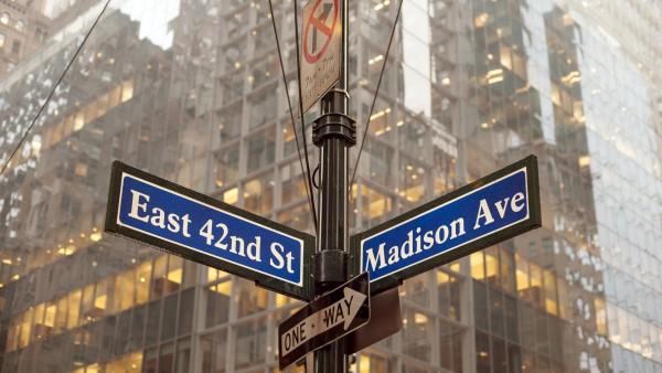 Madison Avenue street sign, New York