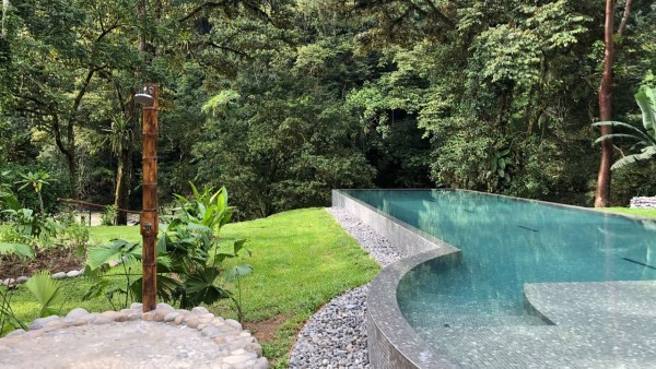 Swimming Pool at the Pacuare Lodge, Costa Rica