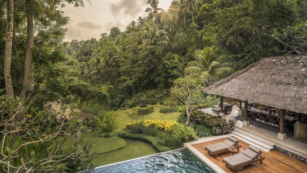 The Sayan Villa with private pool at the Four Season Resort Bali