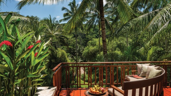 Suite's Balcony at the Four Season Resort Bali