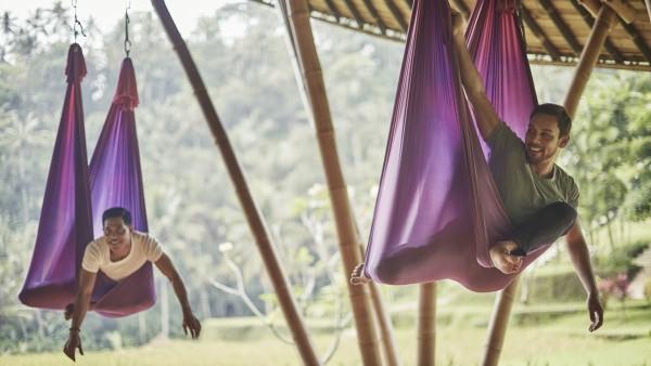 Yoga class at the Four Season Resort Bali