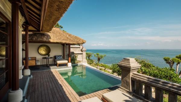 Premier Ocean Villas pool at the Four Seasons Resort Bali