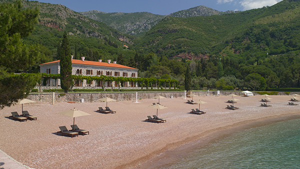 Beach at Aman Sveti Stefan