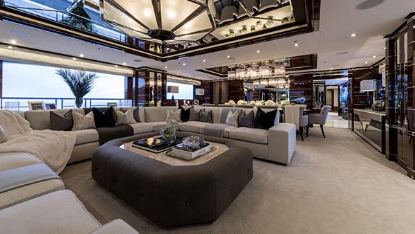 Interior of Benetti FB265 II.II