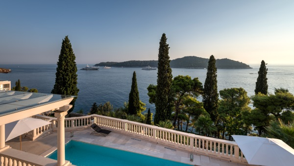 View of the coastline from the villa