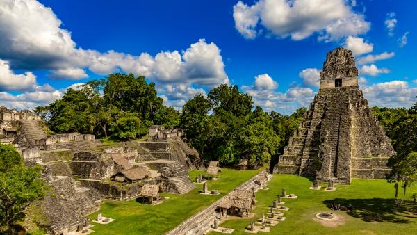 Ancient Mayan Ruins at Tikal National Park, Guatemala