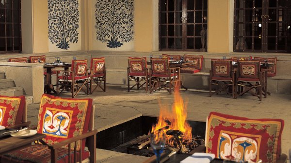 The dining room at the Oberoi Vanyavilas Rajasthan, India