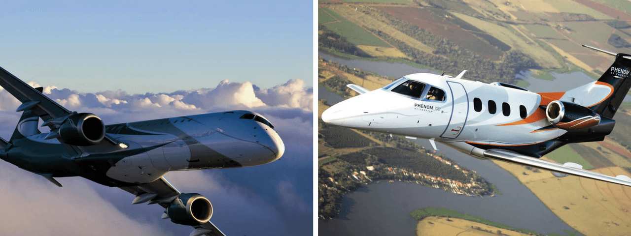 Embraer Legacy 1000 and Embraer Phenom 100